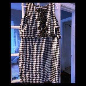 Karl Lagerfeld Houndstooth Dress sz 14 NWT!